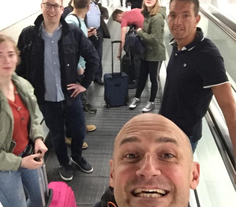 Vroeg op de luchthaven